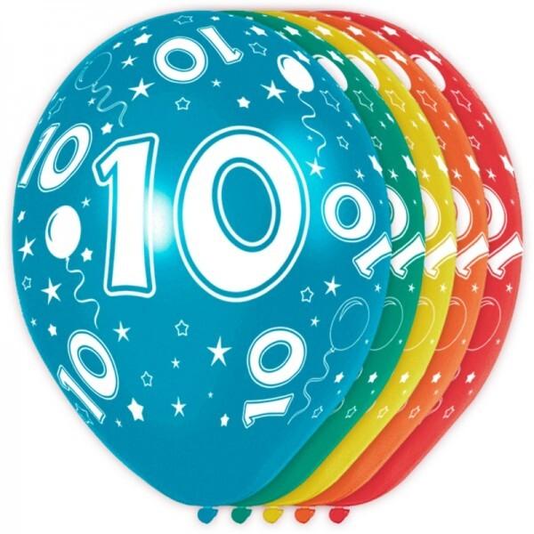10. Geburtstag Ballons