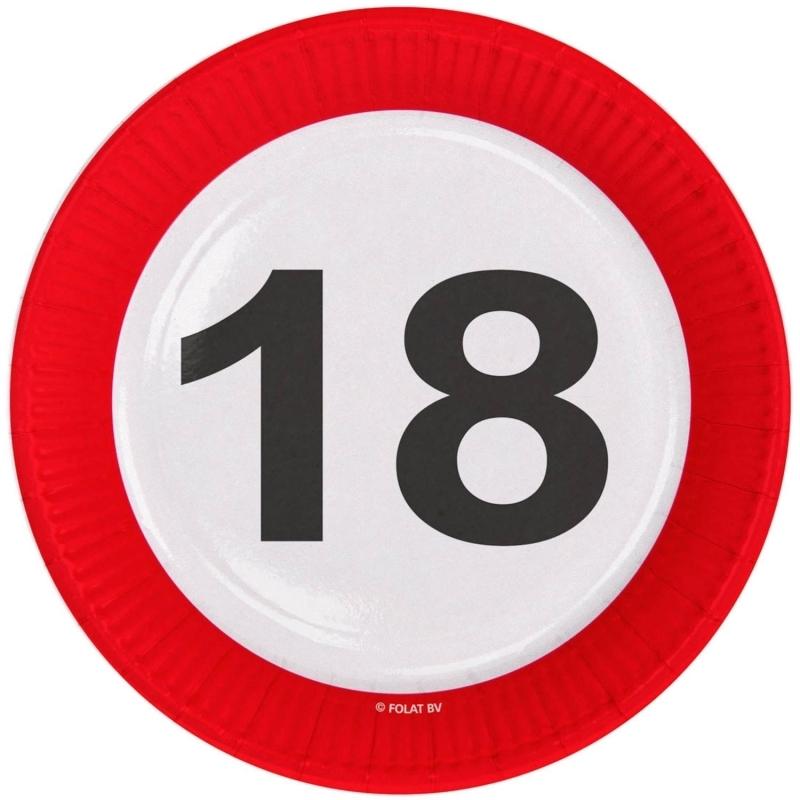 18. Geburtstag Verkehrsschild Teller