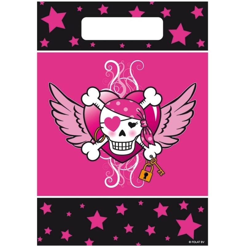 Pinkes Piratenmädchen kleine Tüten