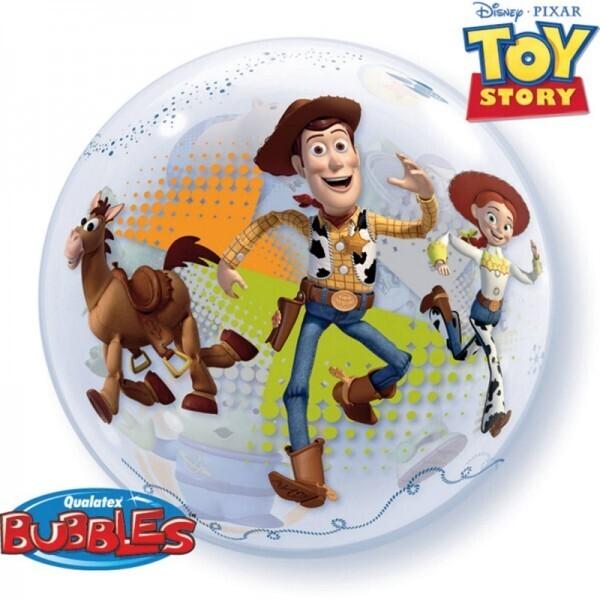 Toy Story Bubble Ballon gefüllt mit Helium