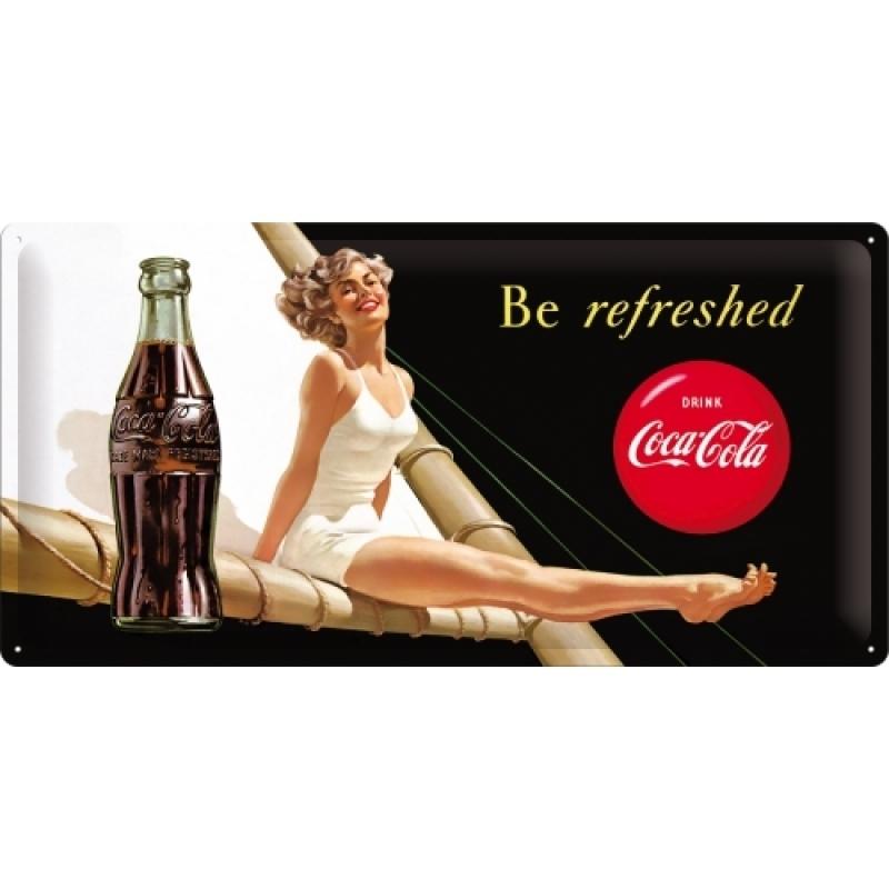 Blechschild Coca-Cola Beauties black / white