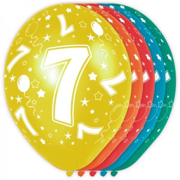 7. Geburtstag Ballons