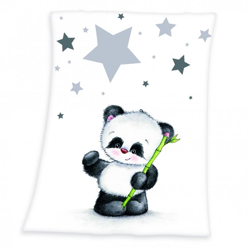 Panda Microfaserflausch Decke