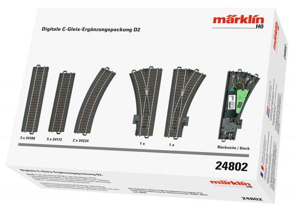 Märklin H0 24802 - Digitale C-Gleis-Ergänzungspackung D2