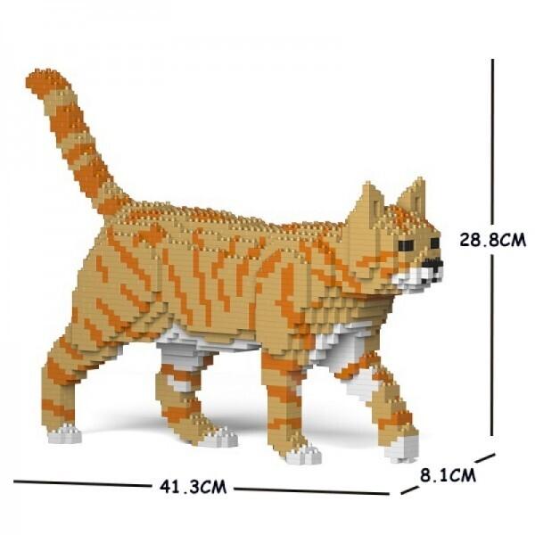 Jekca - Cat orange & beige