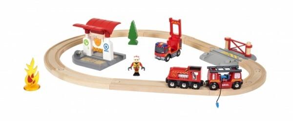 BRIO® - Bahn Feuerwehr Set