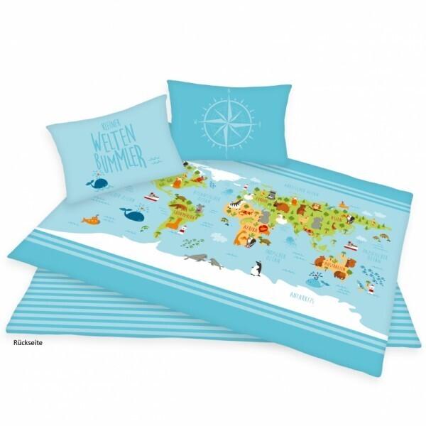 Weltkarte Bettwäsche