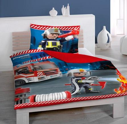 Playmobil Feuerwehr Bettwäsche