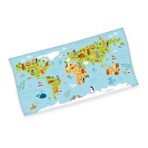 Weltkarte Badetuch