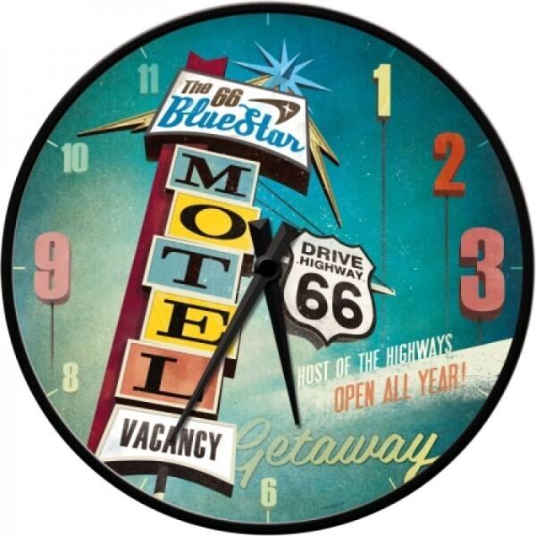 Wanduhr Route 66 Motel