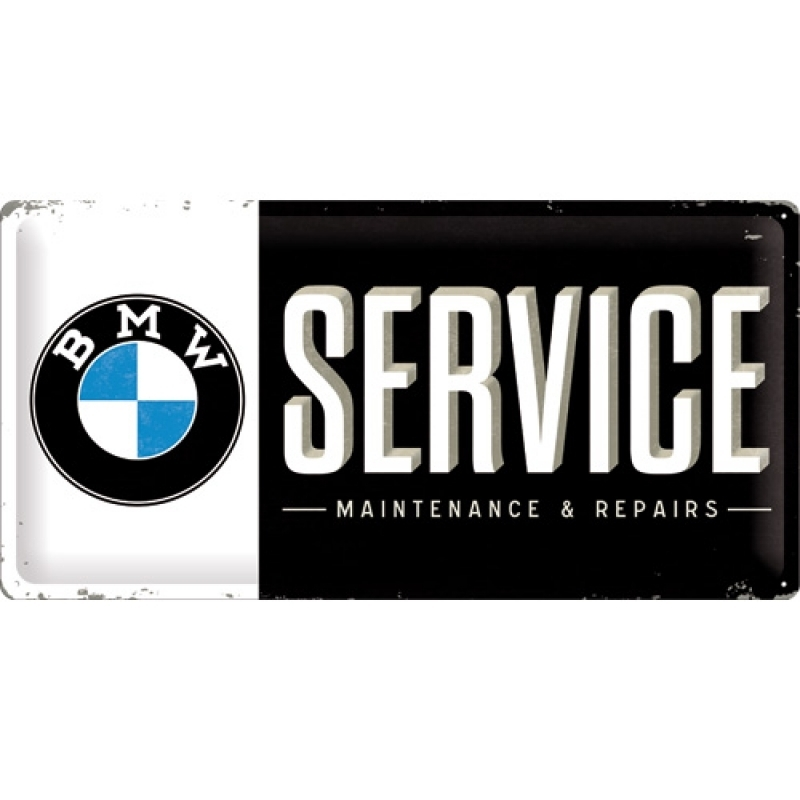 Blechschild BMW - Service