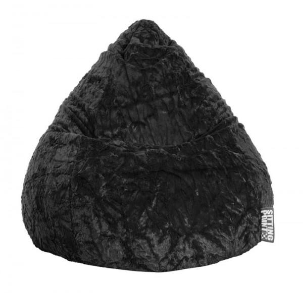 Sitzsack Beanbag Fluffy schwarz