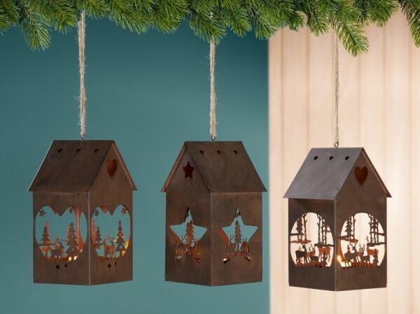 Windlicht Weihnachtshaus