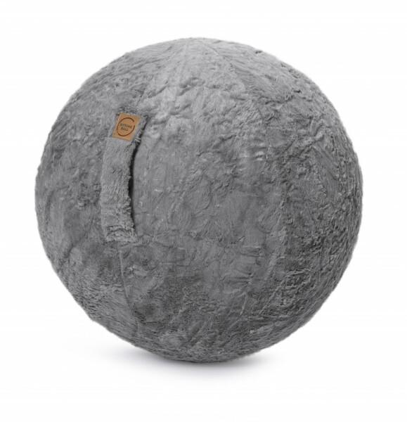 Sitzball Fluffy - mittelgrau